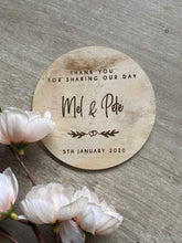 Timber Guest Favour Coasters - Silver Belle Design