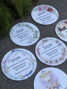 Baby Stop Signs - Your Germs Are Too Big for Me - Silver Belle Design