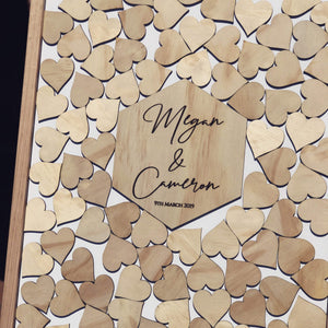 Wedding Drop Heart Frame - Ash Timber