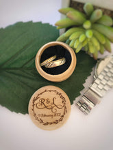 Personalised Timber Ring Box - Silver Belle Design