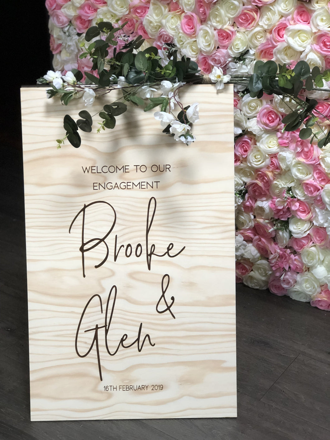Wooden A-Frame Rustic Sign - Brooke Custom