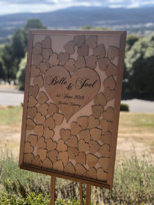 Wedding Drop Heart Frame - Additional Hearts