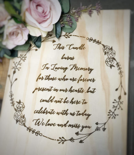 A4 Timber Sign - Engraved, Painted or Acrylic - Silver Belle Design