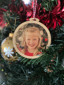 Personalised Photo Christmas Bauble