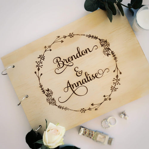 Guestbook Timber Rustic - Silver Belle Design