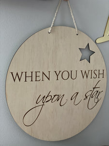 Nursery Wall Hanging Wish Upon A Star Homewares