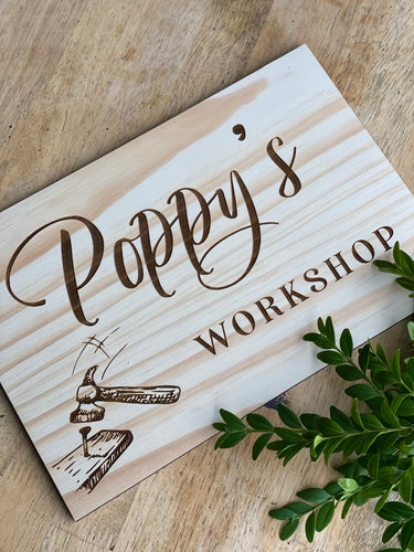 Timber Engraved Sign - Silver Belle Design