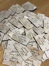 Gift/favour Tags Wedding Favour