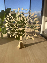 Family Tree Personalised Freestanding - Silver Belle Design