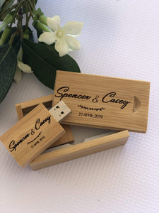 Timber Engraved Usb Bamboo Colour (Light) Flash Drive