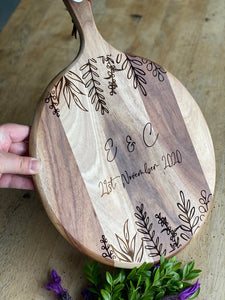 Design your Own - Engraved Chopping Board/Cheese Platter