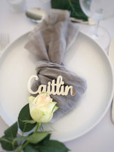 Acrylic Gold, Silver and Rose Gold Place Names or Place Settings - Silver Belle Design