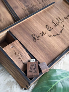 Timber Engraved Usb Flash Drive