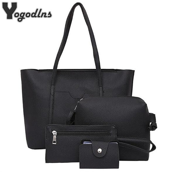 Fashion Designer Composite Bag 4 Bag/Set Women Bag Small Messenger Bag High Quality PU Leather Shoulder Handbags Winter Bag