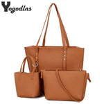 Famous brand Composite Bag 3pcs set women leather handbags bolsas high quality women's messenger bags designer tote
