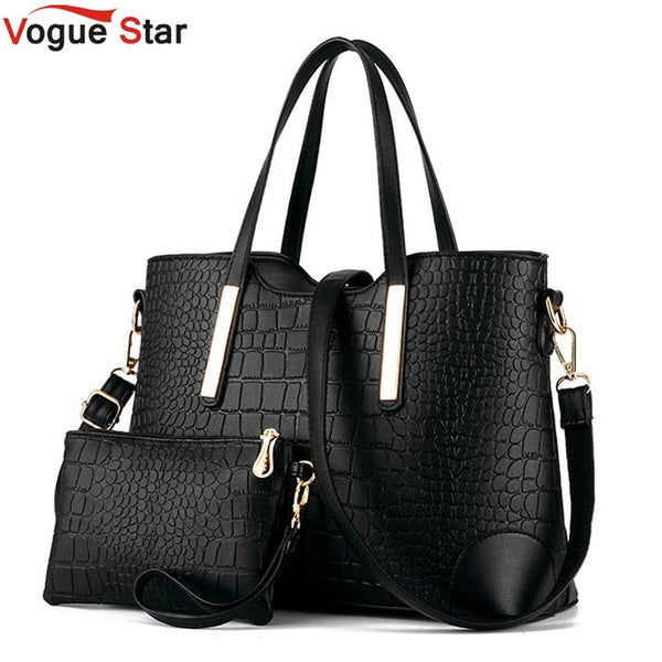 Fashion crocodile Composite Bag Women Crossbody Bags For Women pu leather Handbags Women Bags Designer 2 Sets Sac A Main LS570