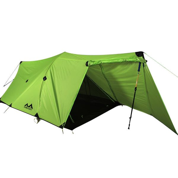 20D Nylon Two 2 Person Double Men Tunnel Tent Backpacking Tent 3 Season Travelling Ultralight Silicone Coated Camping Hiking