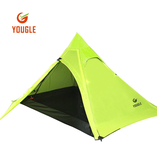 20D Double Layer 3 Men Three Person Backpacking Tent 3 Season For Camping Hiking Trekking Travelling Ultralight Silicone Coated