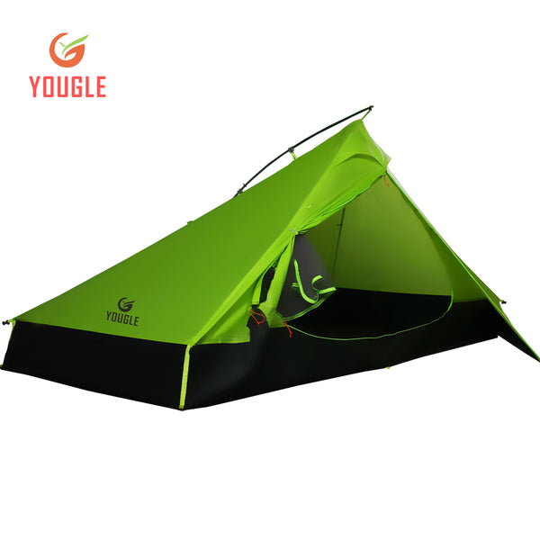 20D One Layer 2 Men Two Person Backpacking Tent 3 Season For Camping Hiking Trekking Travelling Ultralight Silicone Coated