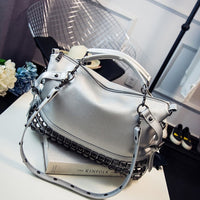 SGARR LUXURY Leather Women Shoulder Bag Brand Designer leather handbags Skin Crossbody bag Famous Big Female Tote Messenger Bags