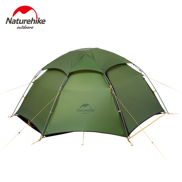 NatureHike NH17K240-Y 20D Double Layer Two Men 2 Person Backpacking Family Camping Tent 3 Season Travelling  Waterproof
