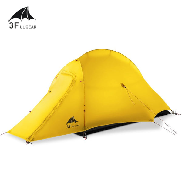 3F UL Gear ZhengTu1 Waterproof Ultralight 15D Silicone Coated 1 Man Single Person Backpacking Tent 3 or 4 Season For Camping