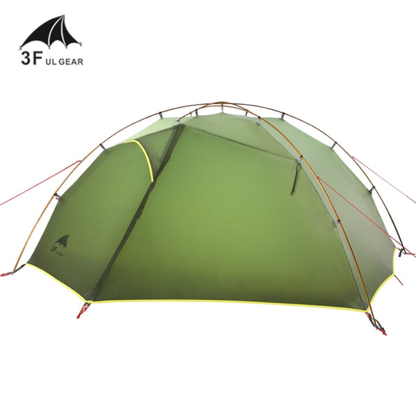 3F UL Gear TaiJi2 Ultralight 15D Waterproof Silicone Coated 2 Men Person Backpacking Tent 3 Seasons For Camping Hiking Trekking