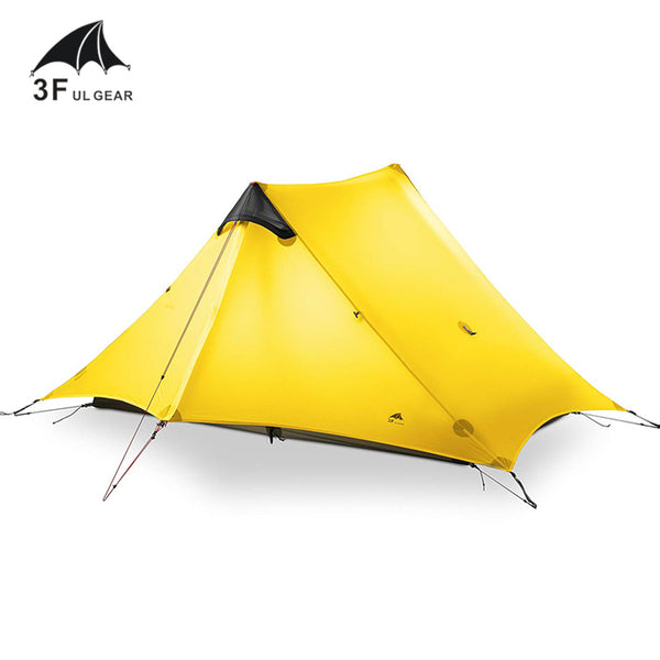 3F UL Gear Lancer2 Ultralight 15D Silicone Coated 2 Man Two Person Backpacking Tent 3 Season For Camping Hiking Trekking