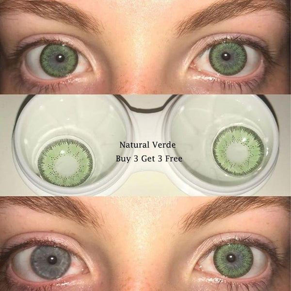 Natural Verde (12 Month) Contact Lenses - StunningLens