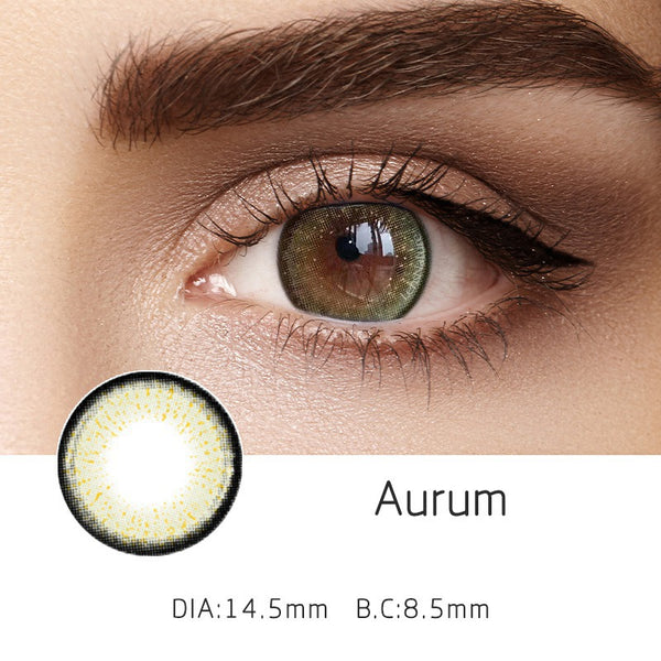 Aurum Green (12 Month) Contact Lenses