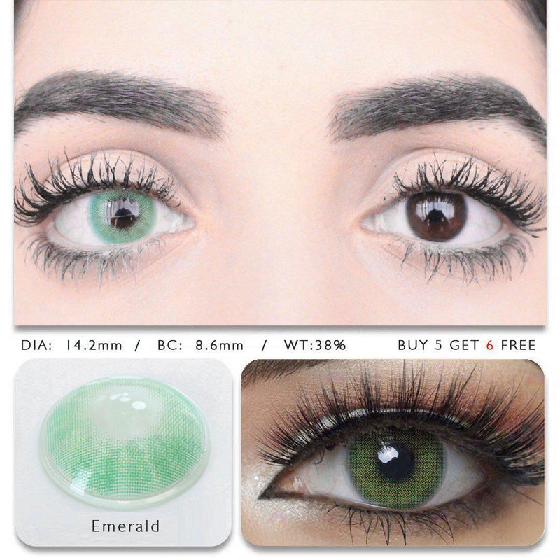 Hidrocor Emerald (12 Month) Contact Lenses