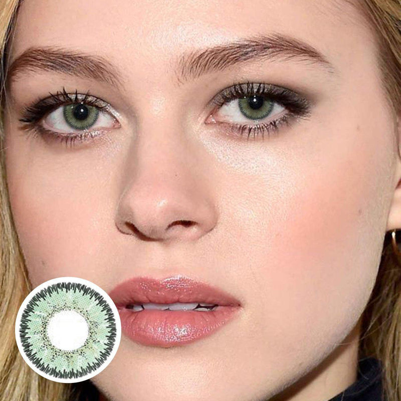 Marble Green (12 Month) Contact Lenses - StunningLens