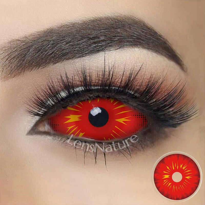 Red Fire Sclera 22mm Cosplay (12 Month) Contact Lenses