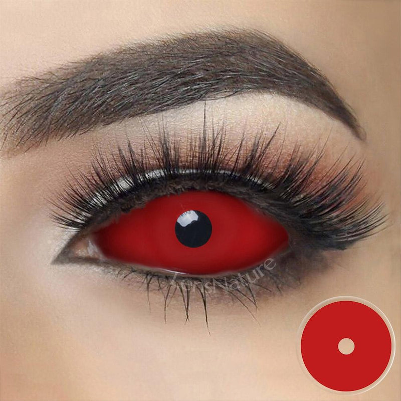 Red Sclera 22mm Cosplay (12 Month) Contact Lenses