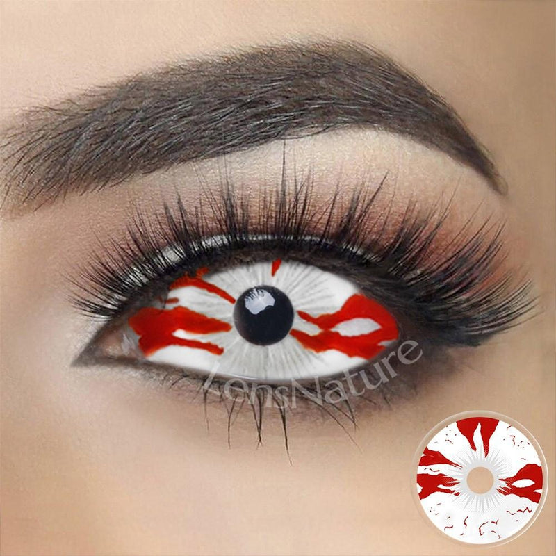 Bloodstained Sclera 22mm Cosplay (12 Month) Contact Lenses