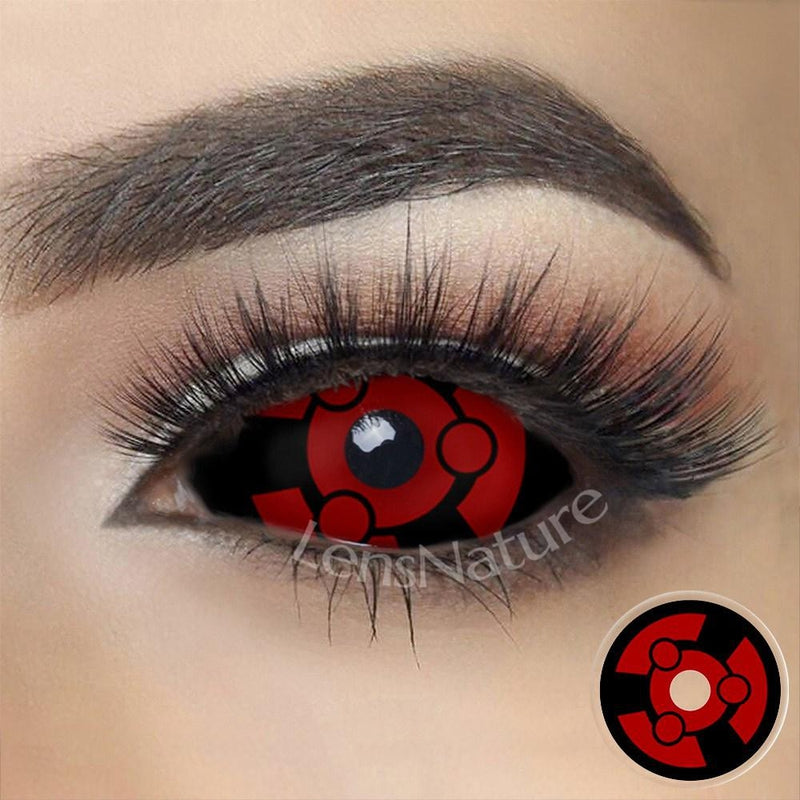 Madara Uchiha Sclera 22mm Cosplay (12 Month) Contact Lenses
