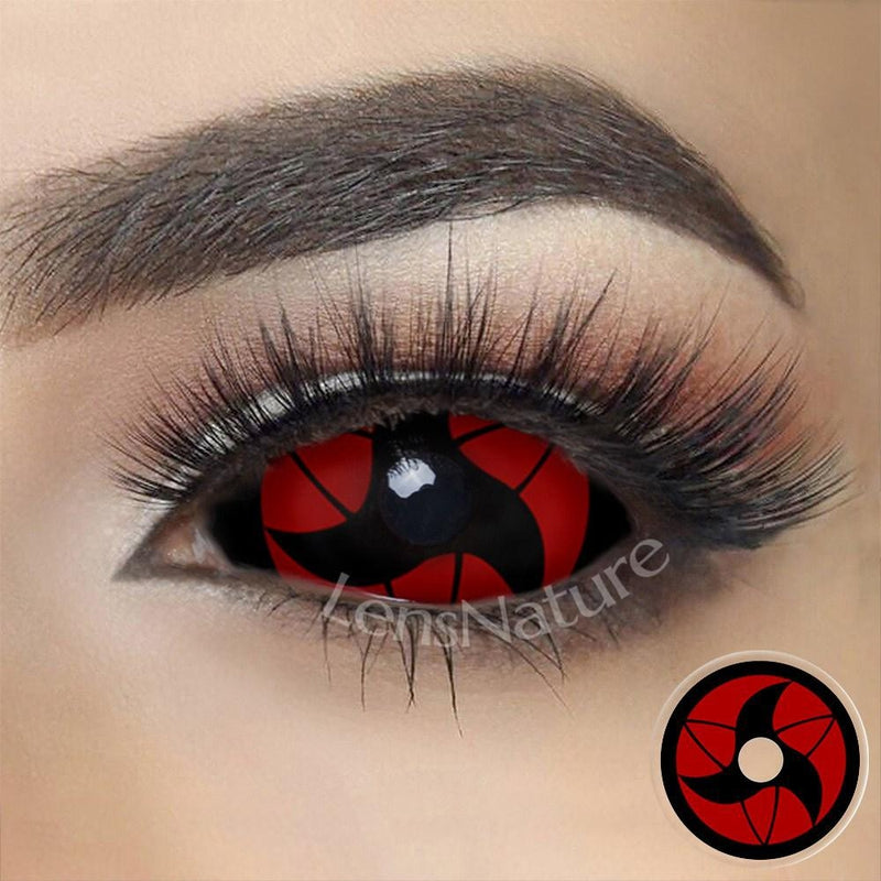 Itachi Sclera 22mm Cosplay (12 Month) Contact Lenses