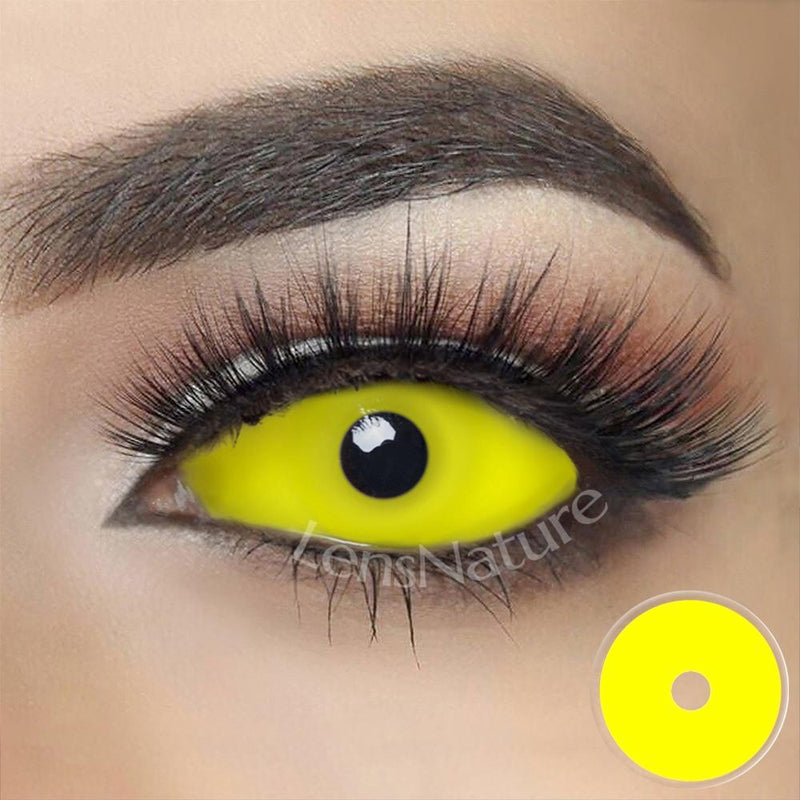 Yellow Sclera 22mm Cosplay (12 Month) Contact Lenses