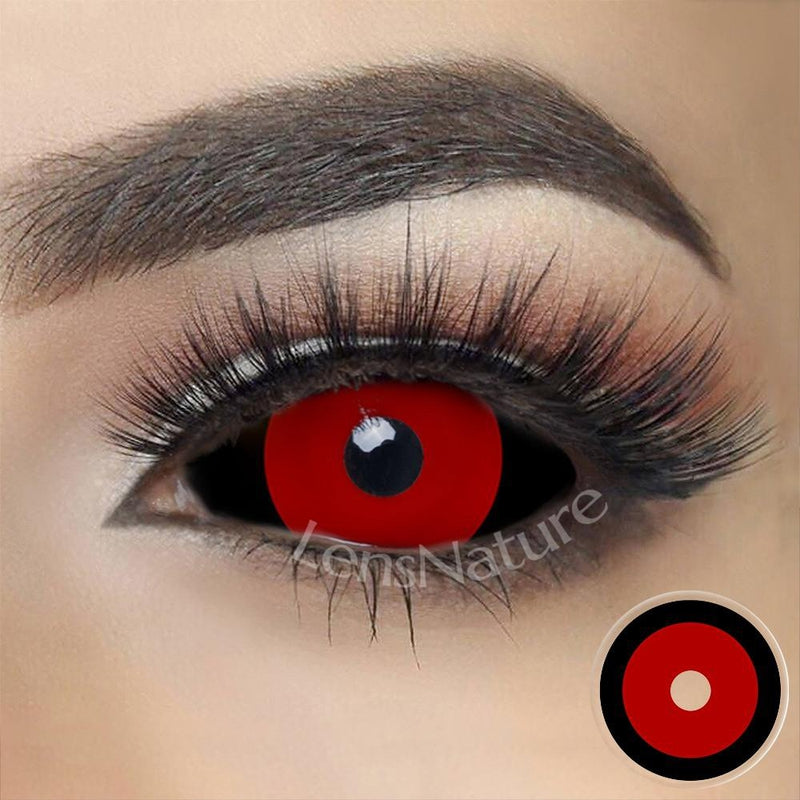 Black Ring Red Sclera 22mm Cosplay (12 Month) Contact Lenses
