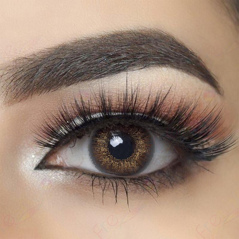 3-Tone Brown Colored Contact Lenses