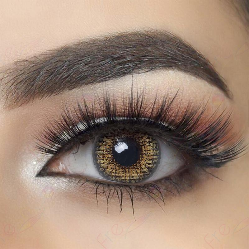 3-Tone Pure Hazel Colored Contact Lenses