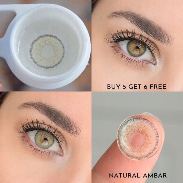 Natural Amber (12 Month) Contact Lenses - StunningLens