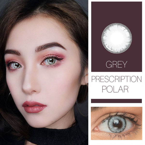 Polar Grey Prescription (12 Month) Contact Lenses - StunningLens