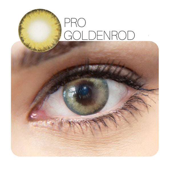 Pro Prescription Golden Rod & Light Blue 14.0mm 1 Piece (12 Month) Contact Lenses