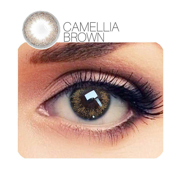 Camellia Prescription 3 Colors 14.0mm 1 Pair (12 Month) Contact Lenses
