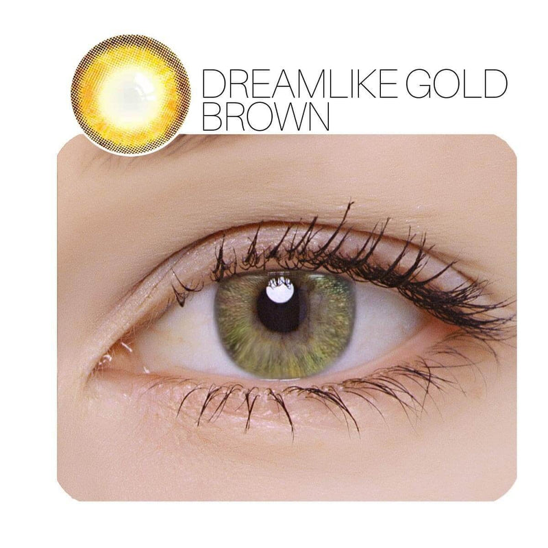 Dreamlike Brown Prescription (12 Month) Contact Lenses - StunningLens
