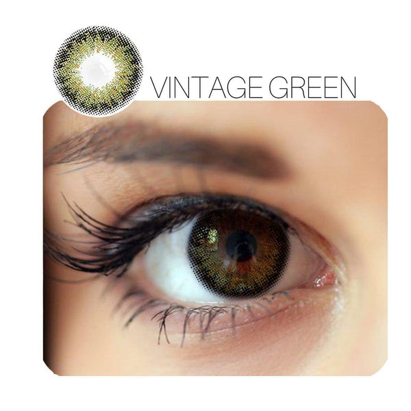 Vintage Green Prescription (12 Month) Contact Lenses - StunningLens