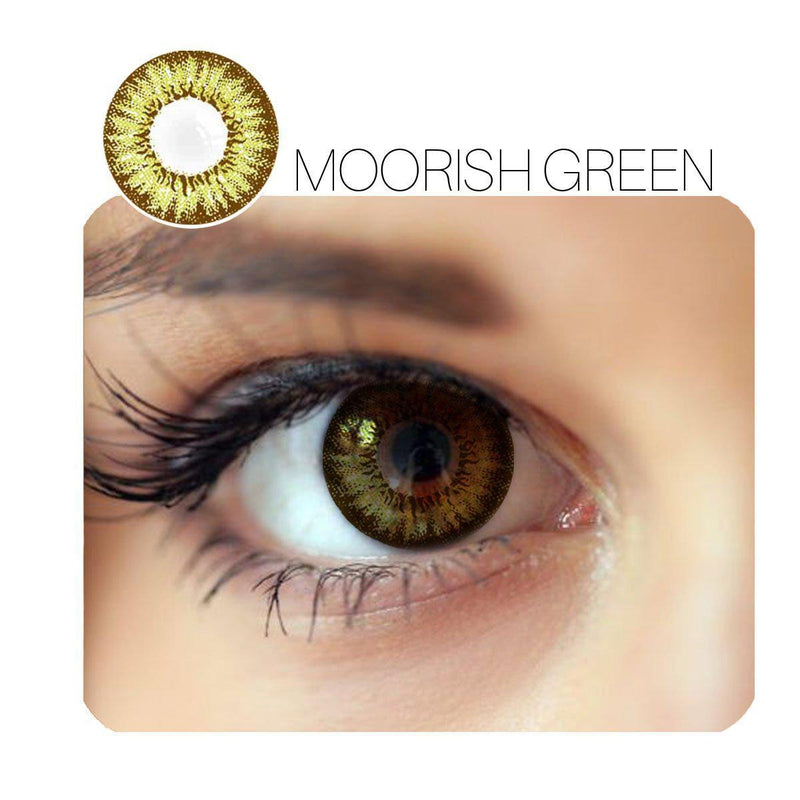 Moorish Prescription Green (12 Month) Contact Lenses - StunningLens
