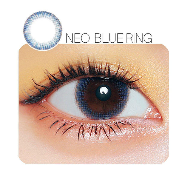 NEO Blue Ring Prescription (6 Month) Contact Lenses - StunningLens