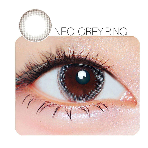 NEO Grey Ring Prescription 14.0mm 1 Pair (6 Month) Contact Lenses